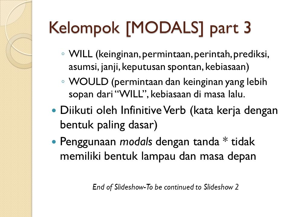Kelompok [MODALS] part 3